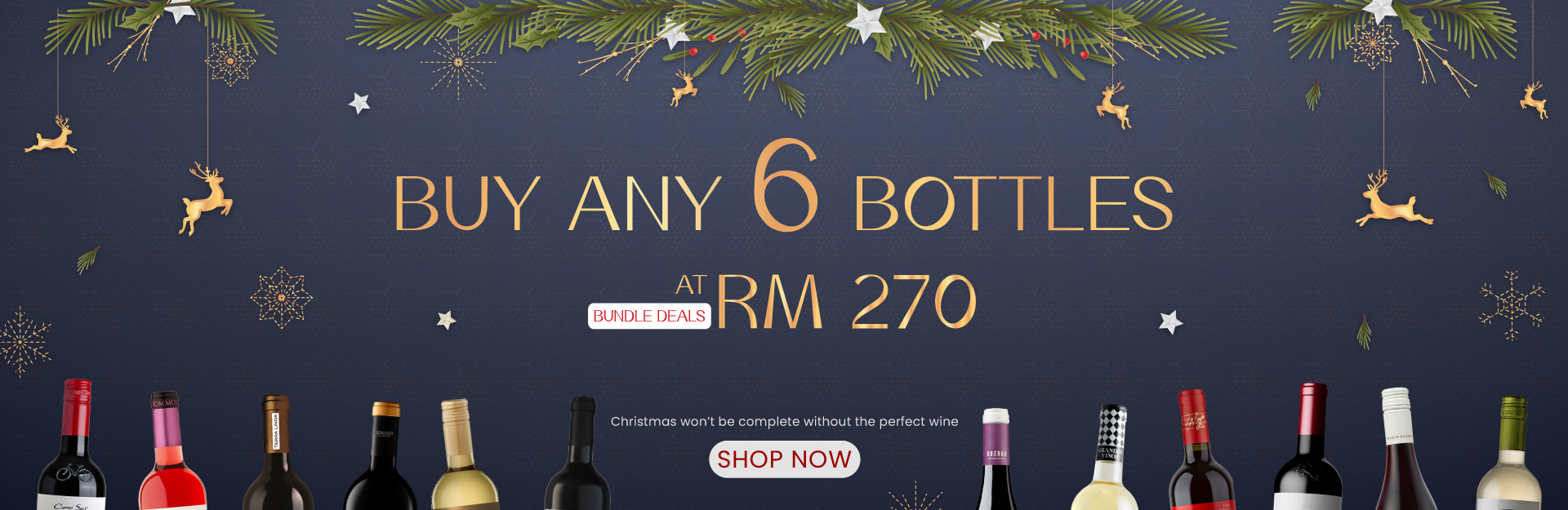 BUY ANY 6 BTLS AT RM 270